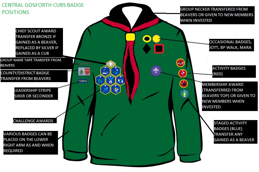 Badges | Central Gosforth Scouts Group